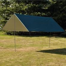 3M x 3M impermeable sol refugio tienda de lona anti UV carpa de playa sombra de Camping al aire libre hamaca mosca de la lluvia toldo de Camping toldo
