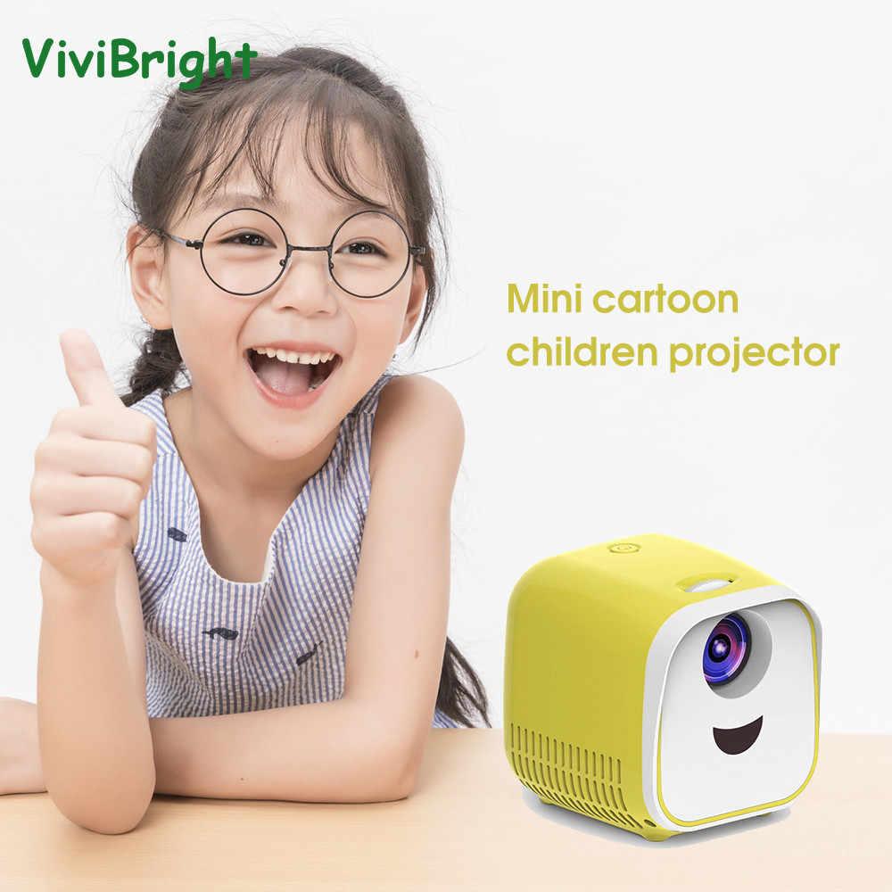 ViviBright мини-проектор для детей мультфильм История Полный 1080P портативный проектор HD мини светодиодный Телевизор домашний мультимедийный проектор