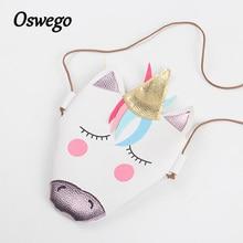 Освего мини, сумка девушка кошелек Сумочка детская кошелек мультфильм милые животные Crossbody сумка для детей подарок на день рождения