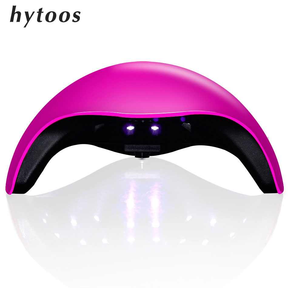 HYTOOS UV Lamp UV LED Lamp Nail Dryer 48W Nail Lamp Double light Auto Sensor Manicure Machine for Curing Nail Gel Polish 7 Color  t2n2 24w nail dryers uv mini led lamp nail dryer polish machine curing light with lcd display manicure machine for all gels