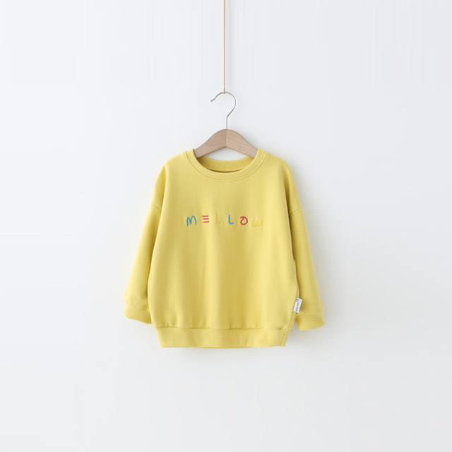 Children's jacket Yangmei 2017 new spring Terry hoodies sweater baby girls special embroidery letter