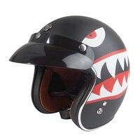 TORC T50 Retro Vintage Motorcycle Helmet 3 4 Open Face Motorbike Helmet Personality Man Racing Scooter