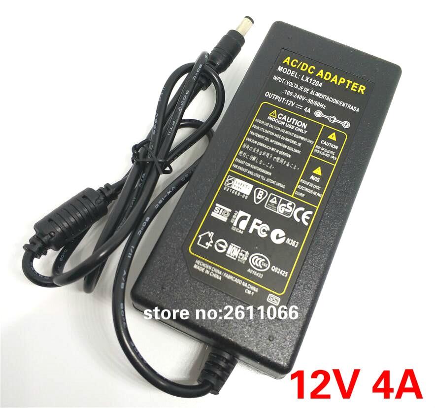 12V4A DC 12V 4A AC 110-240V LED hálózati adapter LED tápegység - Világítási kiegészítők