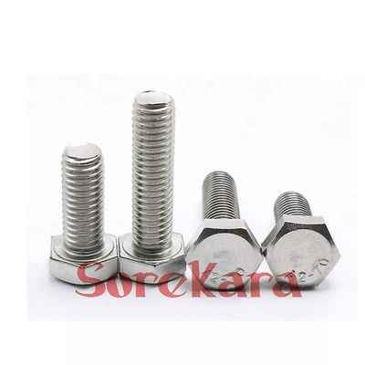 M8 10/12/14/16/20/25/30/40/50/60/70/80/120mm Pitch 1.25 304 Stainless Steel Hex Head Cap Screws Tap Bolts