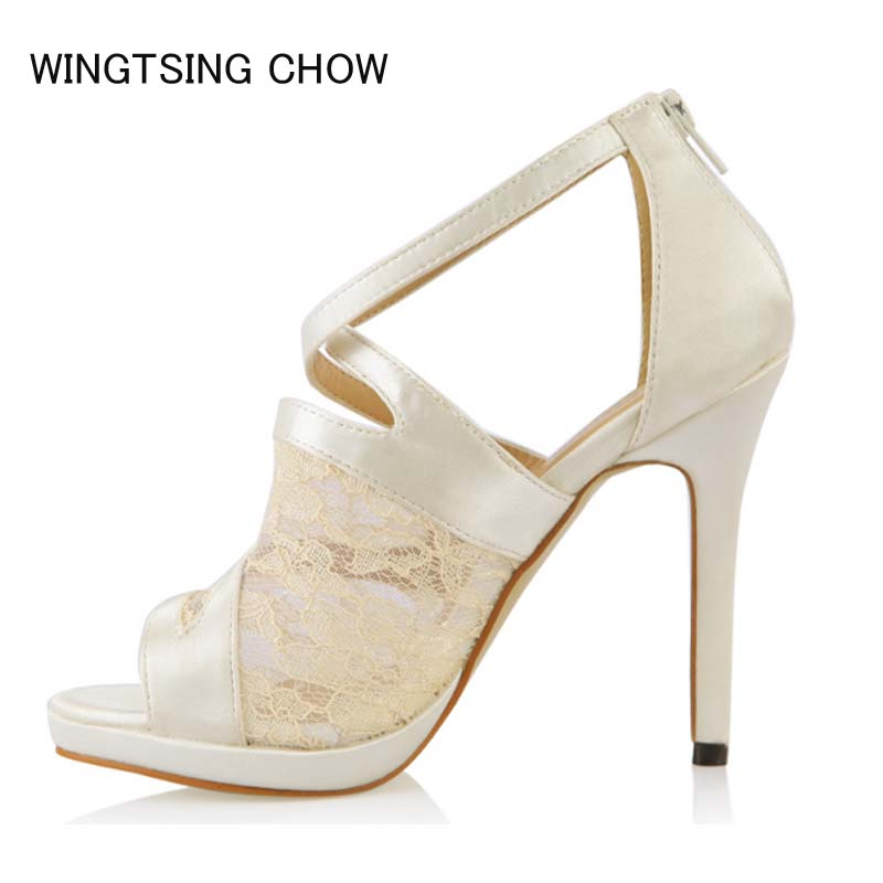 2018 New Summer Elegant Fashion Sandals Woman High Heels Sandals Platform Party Wedding Open Toe Women Shoes Large Size 35-43 covibesco nude high heels sandals women ankle strap summer dress shoes woman open toe sandals sexy prom wedding shoes large size
