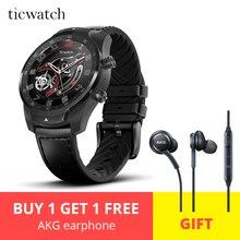 Ticwatch Pro спортивные умные часы Bluetooth WiFi NFC платежи/Google Assistant Android Wear Смарт-часы GPS Бесплатный подарок-AKG Наушники