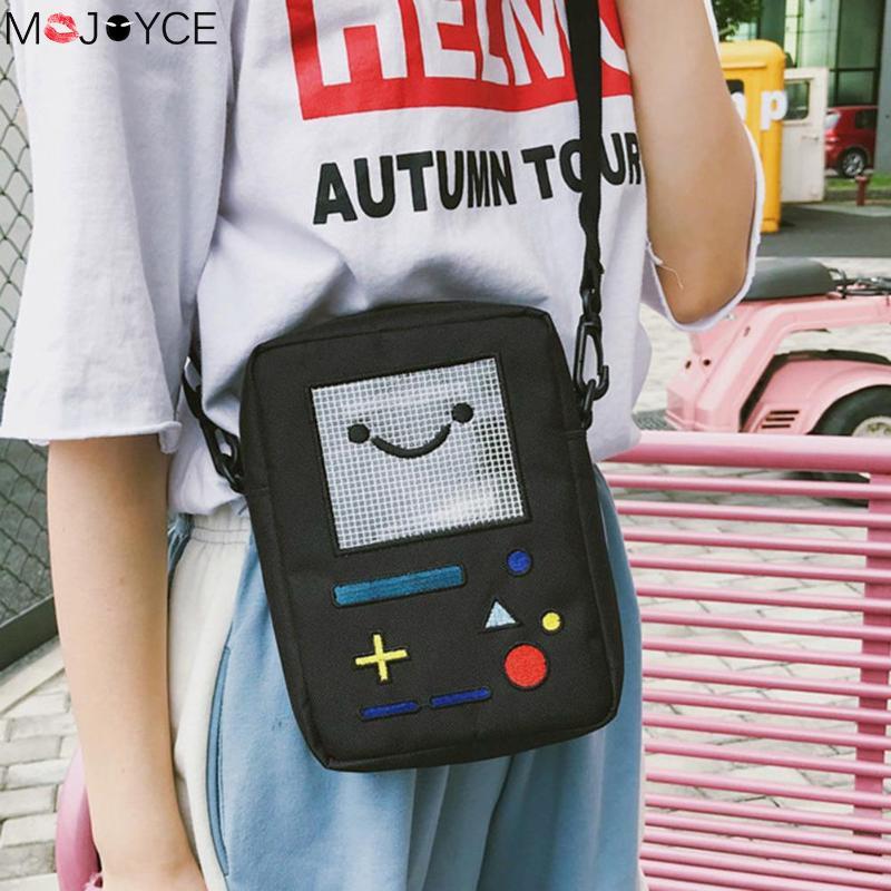 Women Cute Mini Shoulder Bag For Women Girl Lovely Nylon Robot Phone Messenger Crossbody Bag Bolsa Feminina Kids Key Coin Purse