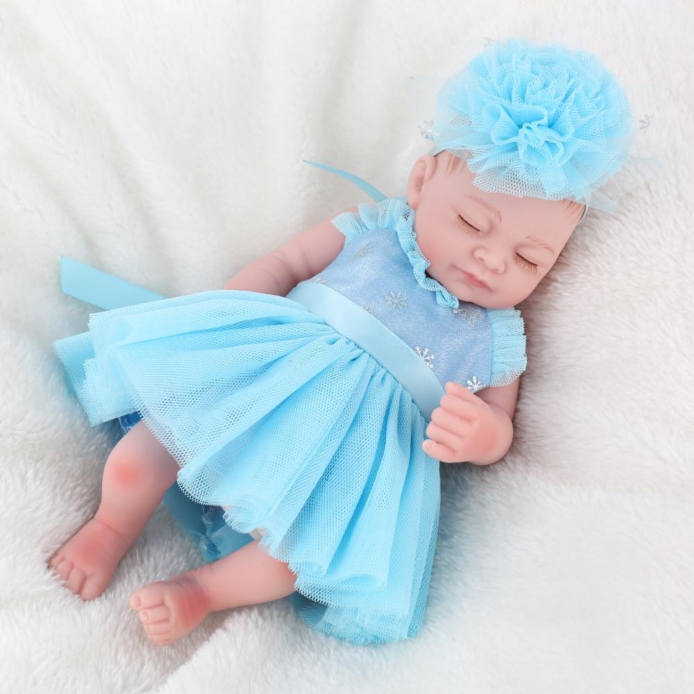 25cm Full Body Waterproof Silicone Vinyl Reborn Baby Dolls Correct Sex Education