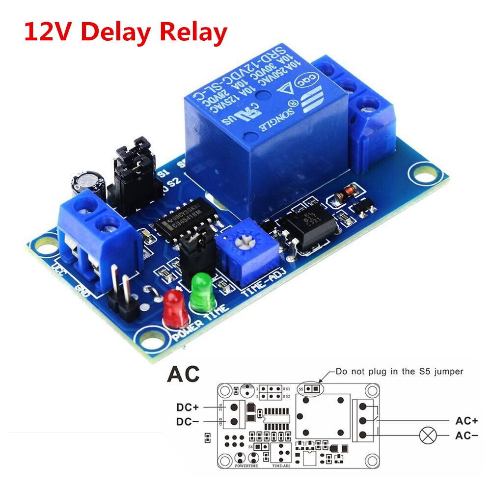 High Quality Delay Relay Delay Turn On / Delay Turn Off Switch Module with Timer DC 12V 1pc multifunction self lock relay dc 12v plc cycle timer module delay time relay