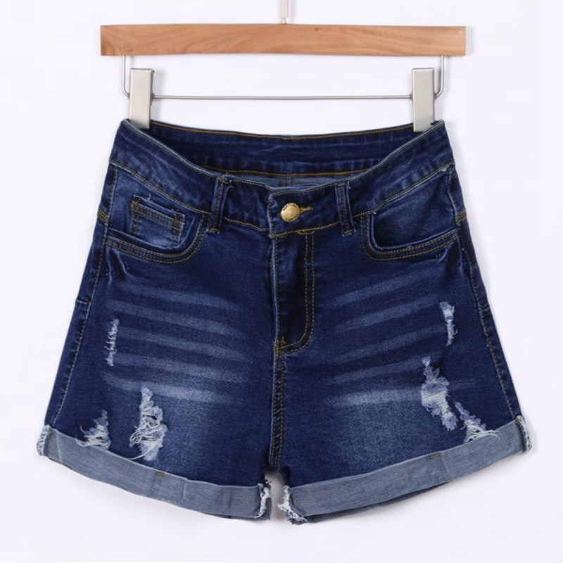 Short Pants Blue 2019 Women Pant Low Waisted Washed Ripped Hole Short Mini Jeans Denim Pants Shorts-30 8.8 5