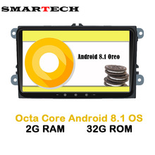 SMARTECH Octa Core 2 Din Android 8.1 VW Car Multimedia Player Stereo Radio Car Intelligent For VW Skoda POLO GOLF PASSAT JETTA