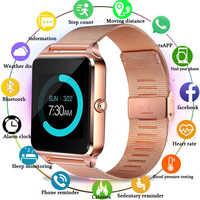 GT08 Plus Smart Uhr Männer Z60 Metall Uhr Mit Sim Karte Slot Push Nachricht Bluetooth Fitness Tracker Konnektivität Smartwatch