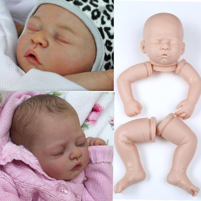 silicone reborn baby doll kits soft body lilfelike vinyl dolls DIY accosseries for 20inch wholesale blank Unfinished Art Works