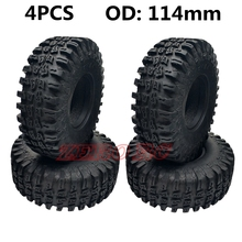 4PCS ROCK CRAWLER 1.9 Inch TIRES 114MM SOFT RUBBER TYRE W/ F