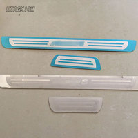 For Mazda 6 2014 2015 2016 Automobile Door Sill Stainless Steel Welcome Pedal Car Styling Sticker