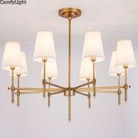 Royal Lustre Led copper pendant light Lampara brass design Hanglamp Suspension Luminaire home Decor retro glass pendant lighting