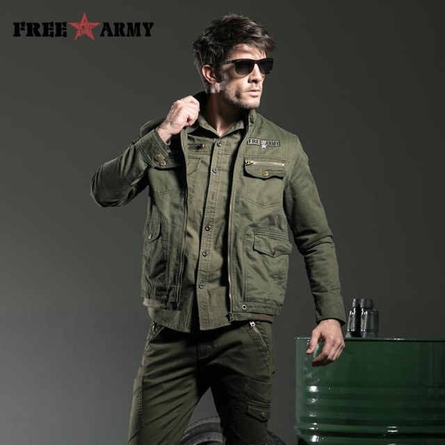 Men Jacket Jean Military Plus Size Military Army Casual Washing Cotton Mens Clothing Autumn Male Coats And Jackets Ms-6275A