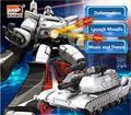 Mais novo 2327XF RC tanque de deformação robô 2.4G escala 1:10 grande Inteligente Robô de Controle Remoto Infravermelho tanque de Transformar a Figura de Ação brinquedo