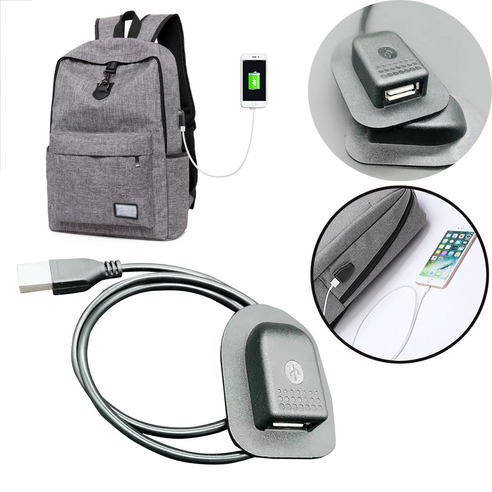 Hot Sale Backpack External Usb Charging Interface Adapter Charging Cabl Practical Convenient Outdoor Travel Camping Charging