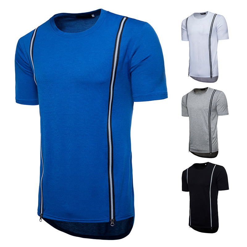 New Arrival Men's Fashion tshirts Tops Round Neck Casual T-shirt Solid Color Short Sleeve clothing shirt brand men