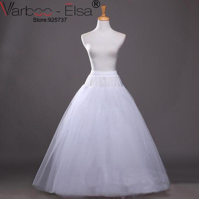 56a8bead Enaguas para vestidos de novia crinoline longue enaguas de boda una línea  sin hueso sottogonna tul