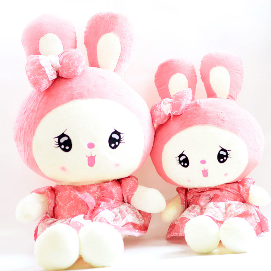 New Soft Stuffed Cute Bunny Plush Rabbit Doll Toy Sleep Plush Animal Doll Hold Pillow Birthday Gift Peluches For Kids 70C0048 plush pig pillow cute animal soft stuffed plush toys for children kawaii pig peluches de animales for kids birthday gift 70c0024