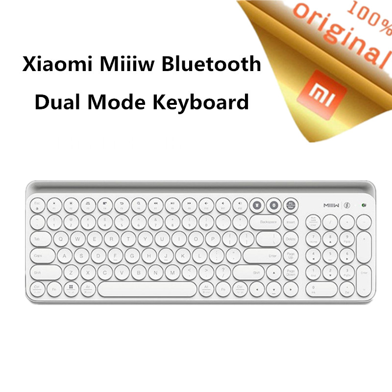 Original Xiaomi Miiiw Bluetooth Dual Mode Keyboard Wireless Bluetooth 4 0 2 4GHz USB Portable Keyboard