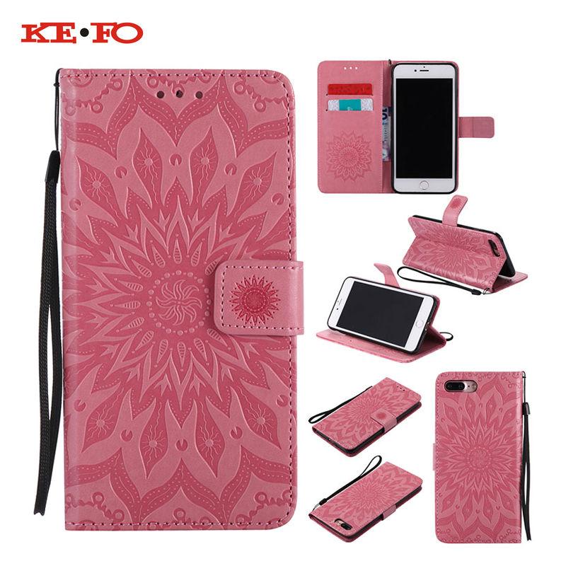 KEFO Flip Wallet Case For Iphone 5S SE 6S 7 Plus For Samsung Galaxy S5 S6 S7 Edge Plus S8 Plus J5 J7 Prime Cover Coque Capa