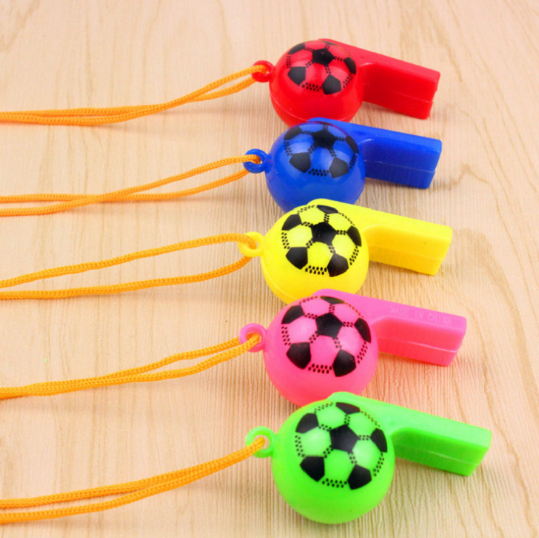 5 Pcs/pack Cute 2 Styles Plastic Whistle With Lanyard For Party Sports Games Noise Maker For Children Early Learning Toy