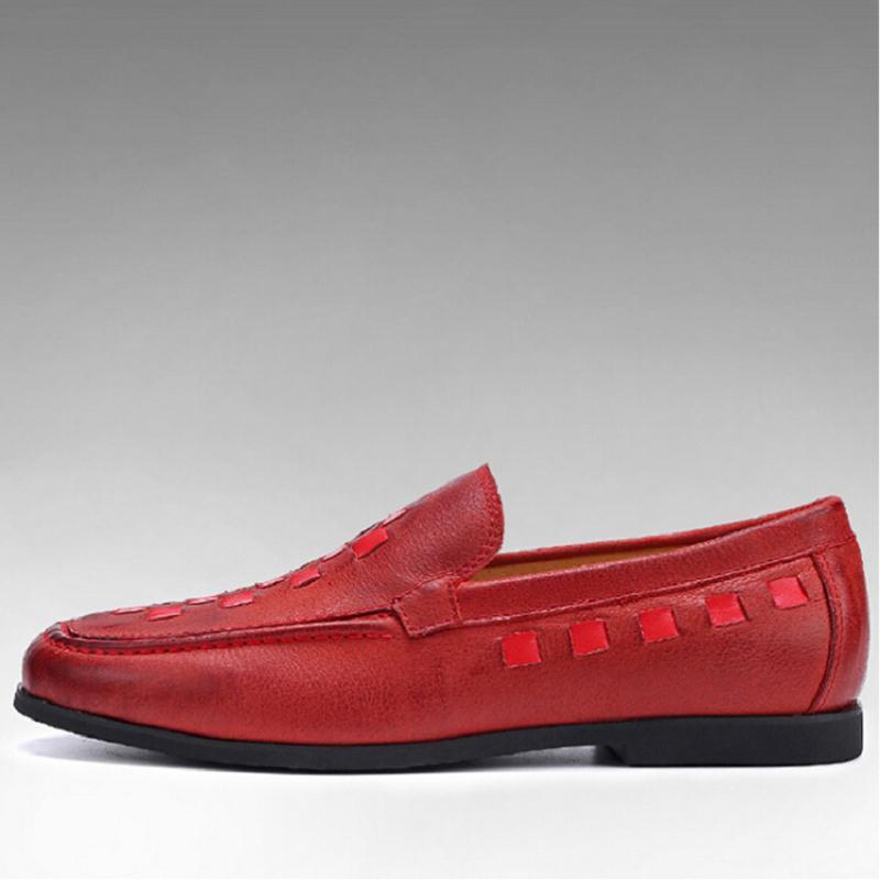 Calzado Ocasionales Respirables Rojo rojo De Auténtico 2017 Zapatos Para Mycolen Negro Hombres Hombre Antideslizantes Vino Nuevos Cuero wTqUTAgBx