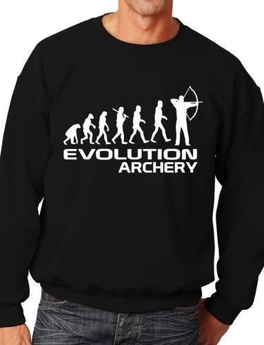 Evolution Of Archery Sweatshirt/Jumper Unisex Birthday Gift More Size and Color-E230