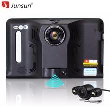 Junsun 7 polegada Android GPS DVR Carro Radar Traço Câmera de Vídeo gravador de 16 GB câmera de visão Traseira Do Caminhão de Navegação GPS WI-FI AVIN FM sat nav