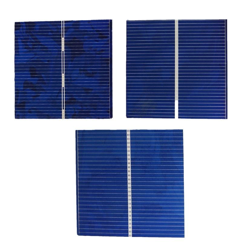 100pcs/pack 52*52*0.2mm 0.5V 0.43W DIY Polycrystalline solar cells solar panel module chip generation chip for Toy