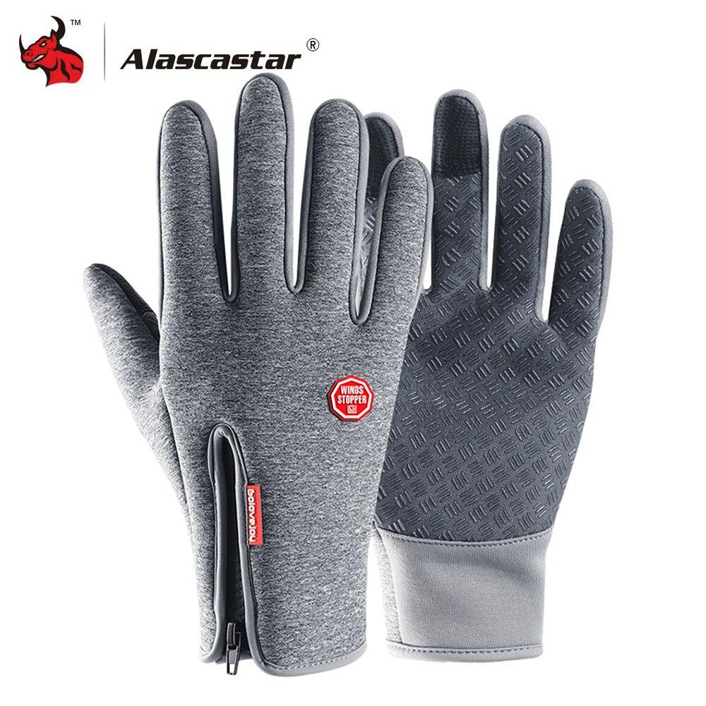 Motorcycle Gloves Autumn Winter Windproof Waterproof Moto Gloves Fleece Lined Gloves Ski Snow Full Finger Touch Screen Gloves