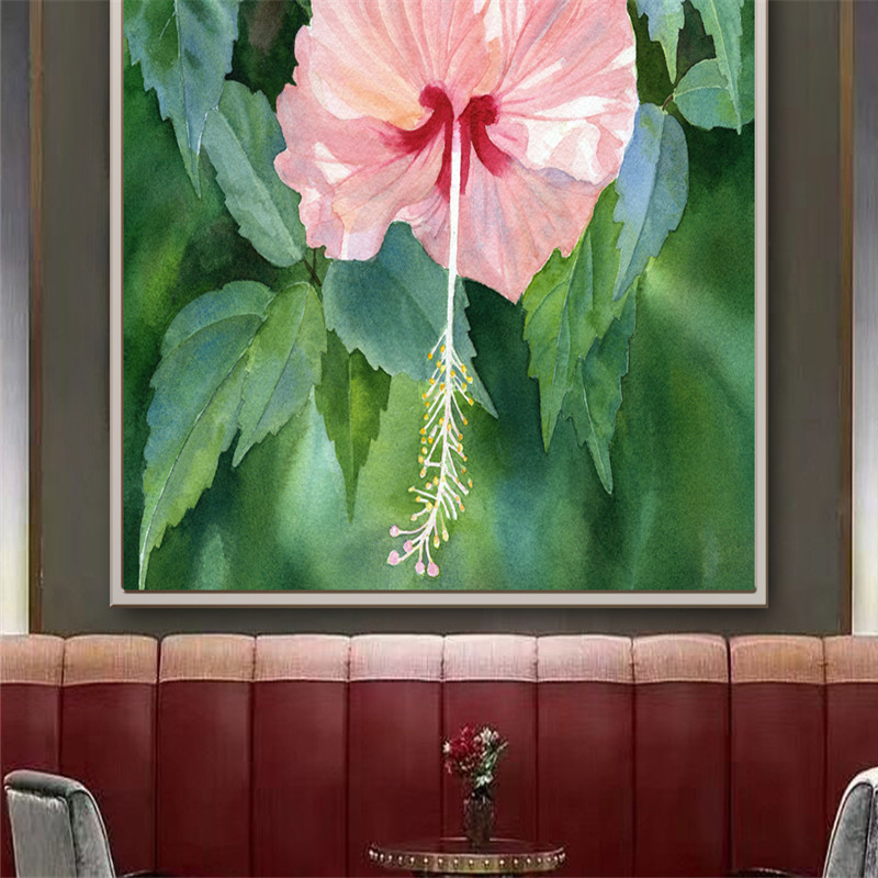 Hand-painted Wallpapers Flowers Photo Murals Leaf Oil Painting Wall Papers Plants Home Decorative Mural for Living Room Walls 3D hua tuo landscapes hand painted oil painting