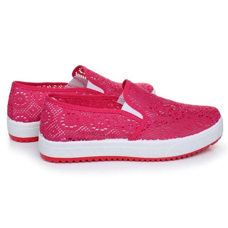 75877533ce35 Yeerfa Летний стиль модные женские туфли Обувь с дышащей сеткой Обувь воды  пляжа сети мягкие повседневные женские туфли Женская обувь на плоской  подошве ...