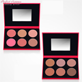 Perfect Summer Face Blush Palette Brand Cheek Blusher Powder 6colors Contouring Makeup Set Blush