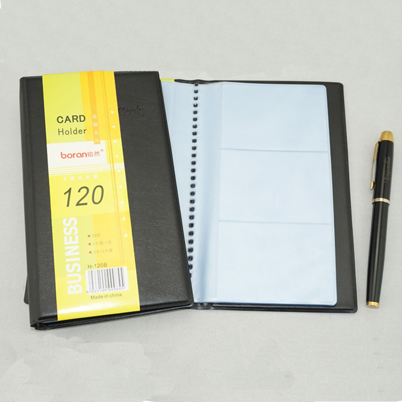 Portable 120 Cards PVC Matte Antimagnetic Leather Business Name ID ...