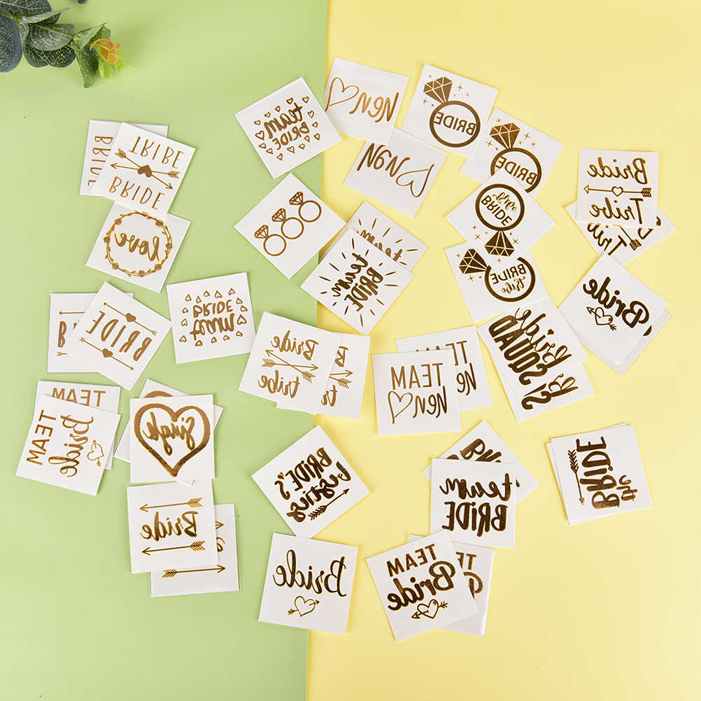 301550086d701 Bride Team Tribe Wedding Temporary Tattoo Sticker Bridesmaid Night Party  Tattoo Bridal Flash Sticker Tattoo Decals