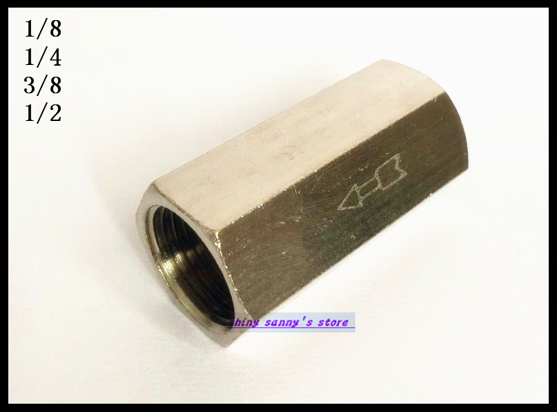 10Pcs/Lot  1/8 BSPP Female Full Ports One Way Air Check Valve
