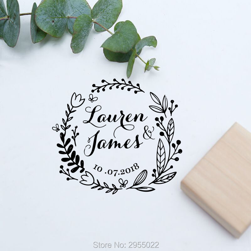 Us 13 75 14 Off Custom Wedding Invitation Stamp Wood Rubber Personalized Favor Classic In Stamps From Home Garden On