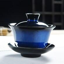 Китайский чай чашки кунг-фу супница керамический гайвань YuQuan чайный набор ручная роспись Крышка Чаша S