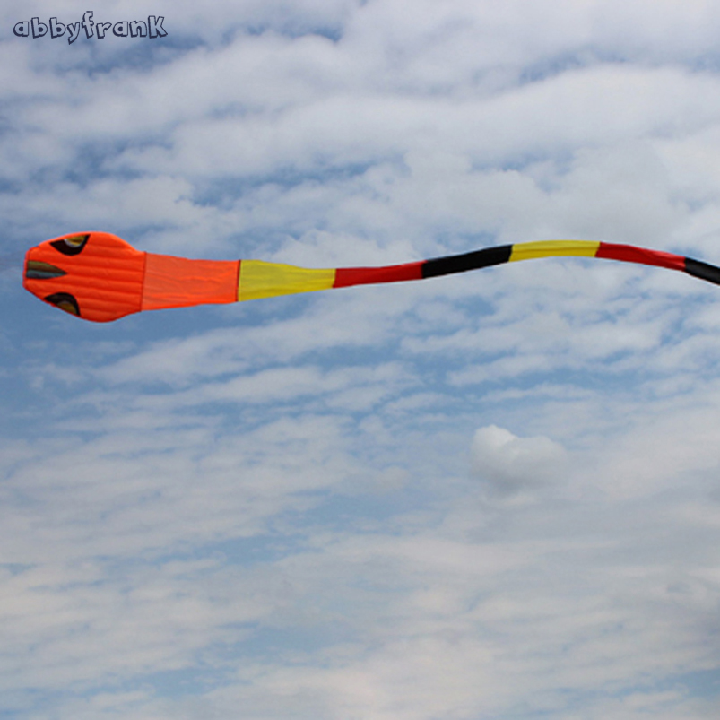 Abbyfrank 40M Large Snake Animal Flying Kite Software Power Weifang Kite Easy Flyin Outdoor Game Fun Gift High Quality Kids Toy