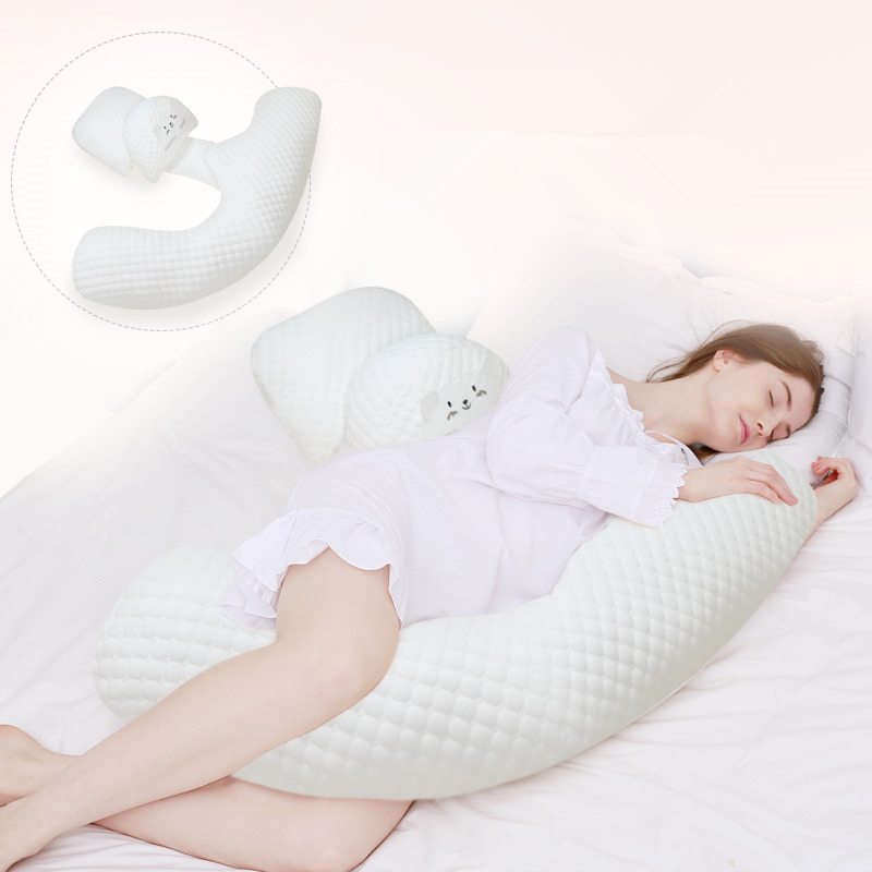 Maternity H Shape Pillow Waist Support Breathable Body Pillow Side Sleeping Pregnant Women 2 Type Swap Air Cotton Pillow Cushion цена