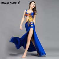 Free shipping Belly dance costume suit Phoenix totem sexy belly dance ensemble in a single slit satin fabric bra +skirt 8816