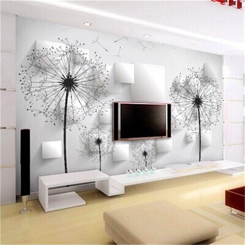 Löwenzahn Wand Abdeckt Minimalistischen Moderne 3d Tapete Wohnzimmer  Schlafzimmer TV Hintergrund Tapete Continental Individuelle Wand