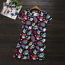 2017 Summer New Simple 100% cotton ladies sleepdress brief sleeve attractive black cartoon letter nightshirts for girls sleepwear