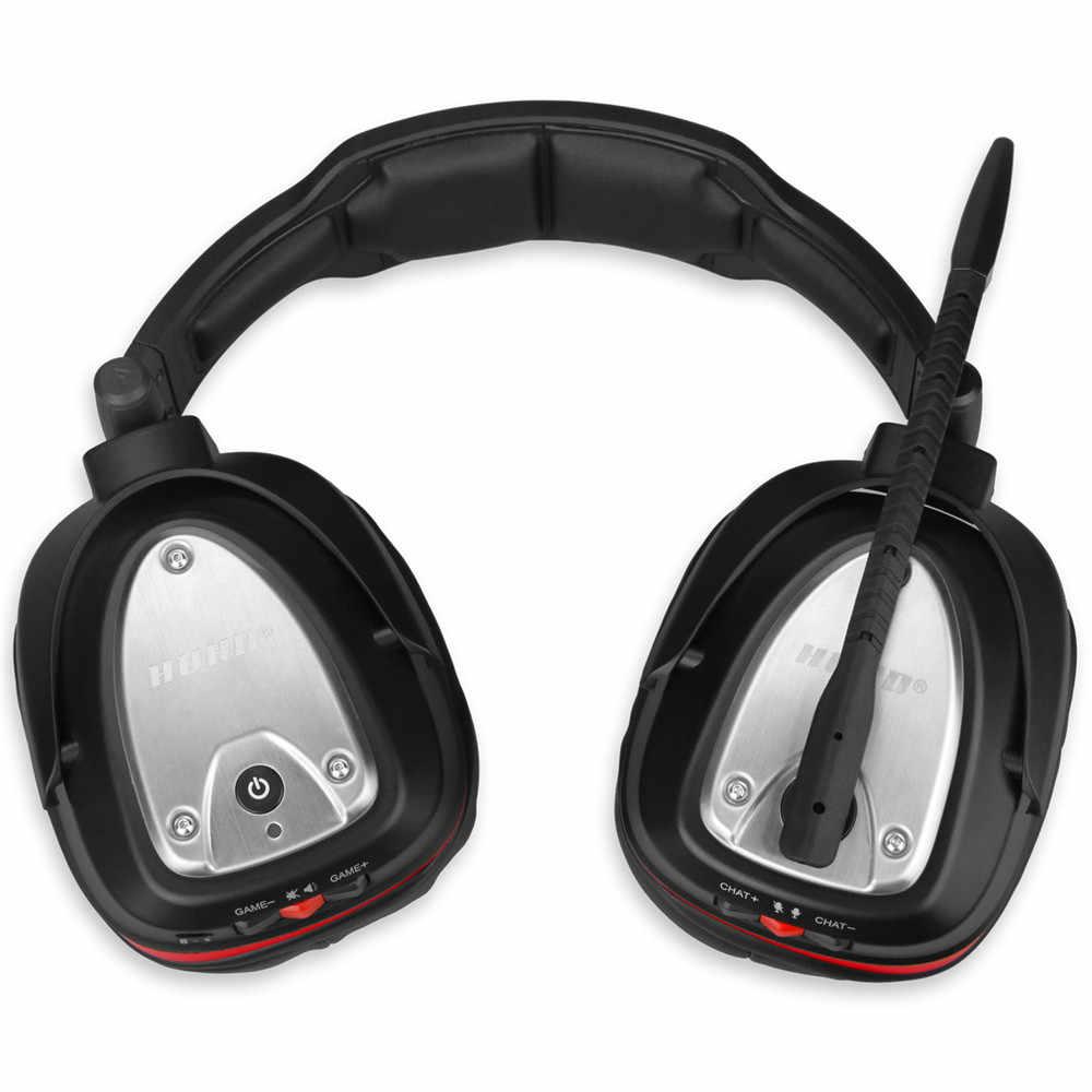 HUHD USB 7.1 ستيريو لاسلكي سماعات الألعاب لعبة سماعة على الأذن التحكم الصوتي ل كمبيوتر محمول ألعاب نينتندو التبديل PS4