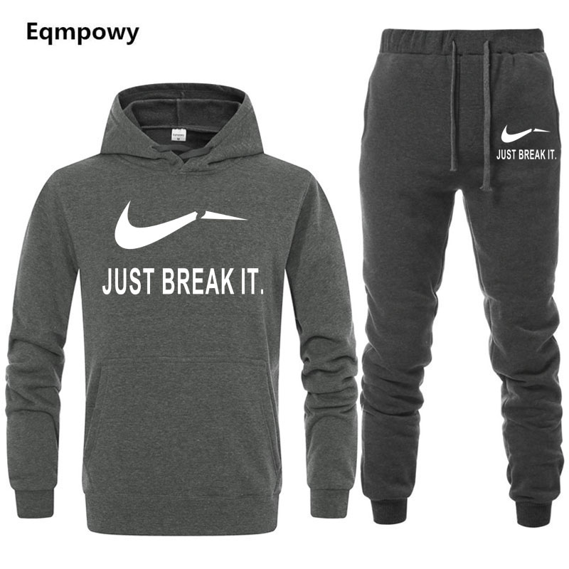 Tracksuits Males Winter 2019 Tracksuit Simply Break It Swimsuit Males Observe Fits Set Coat+Pants Outwear Sportssuit Jacket And Sweatpant