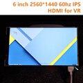 5.98 дюймов IPS 2560*1440 2 К 60 Гц AUO ЖК-Экран HDMI MIPI LTPS Модуль Для DIY VR Гарнитура Oculus Rift ДК1 DK2 Виртуальный реальность